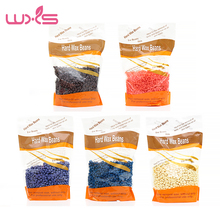 WXS 300 Hot Film Hard Wax Pellet Waxing Bikini Hair Removal Bean Product Depilatory Wax Beans 5 Taste No Strip Depilatory Wax(China)