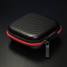 Hot Sale Zipper Headphones Box Earphone Earbuds Hard Case Trinketry Storage for SD Card PU Charms Boxs Carrying Pouch Bag