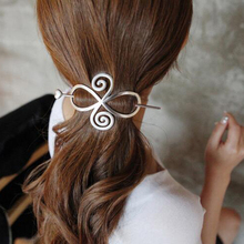 New Arrivals Charm Lovely Retro Love Circle Flower Hair Clasp Elegant Pins Hair Sticks Hairpins Women Hair Accessories Female