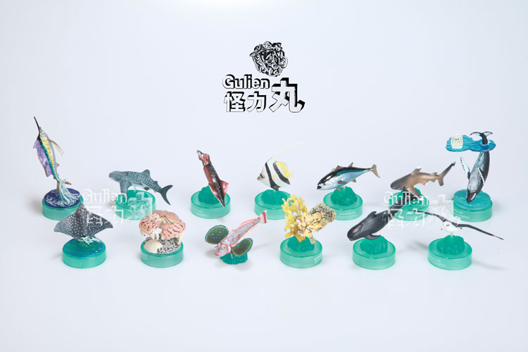PVC figure marine life model lid toy 13pcs/set(China (Mainland))