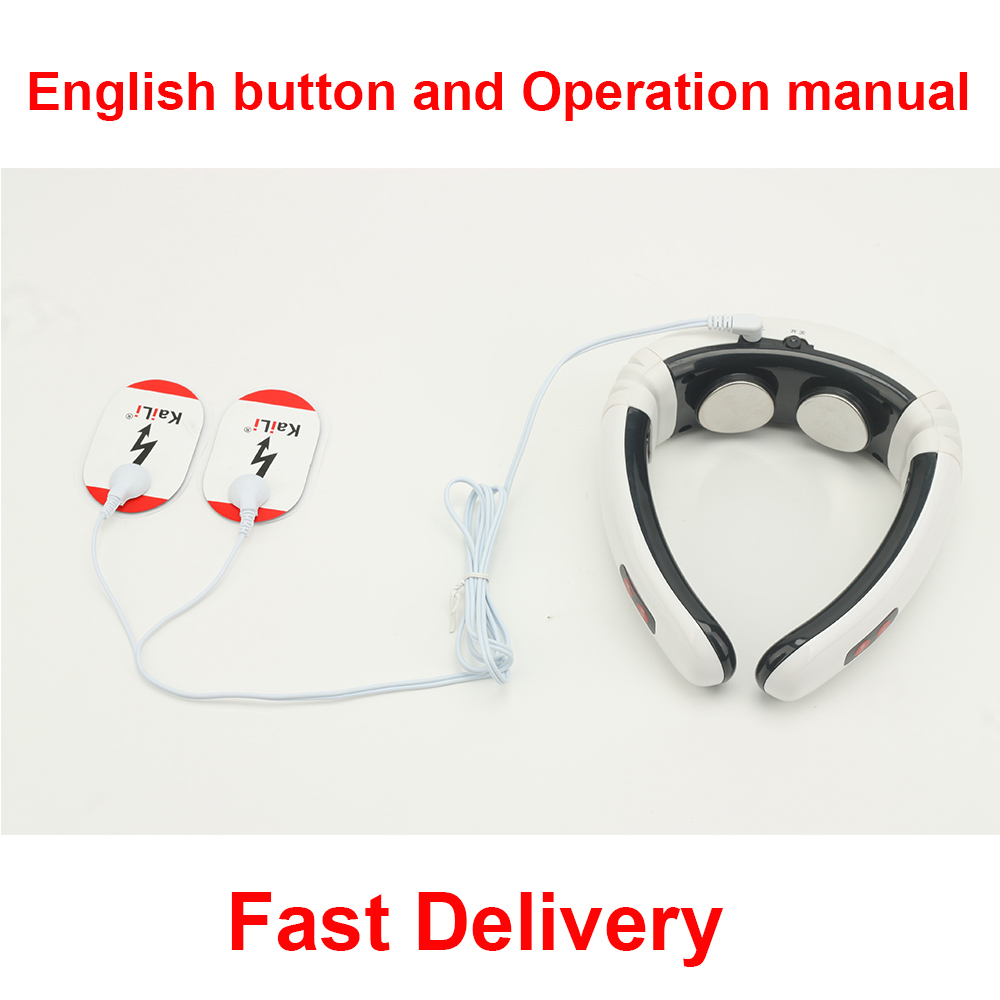 New Best Quality Electric Neck Massager Neck Care Therapy Instrument Far Infrared Heating Cervical Vertebra Hauling Massager<br><br>Aliexpress