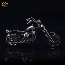 Hot sale large Metal wrought iron motorcycle model creative furnishing articles birthday gift free shipping
