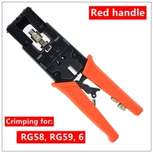 MXITA  Coax Compression Connector Crimping Tool  Adjustabl Wire Cutter for RG58 RG59 RG6 Waterproof Connector F BNC RCA
