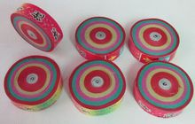 36pcs/lot Dia.6.5cm colorful Hand Throwing Party Popper Frisbee Paper Confetti(China)