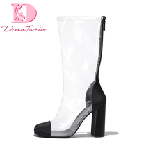 Buy DoraTasia 2018 Brand design big size 34-43 fashion summer boots women shoes popular Stylish trendy transparent woman shoes for $48.47 in AliExpress store