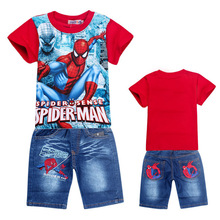 Clearance Sales Summer Baby Boys Clothes Suits Classical style Children Casual Suits Kids Student Cotton T Shirt+Shorts Suits