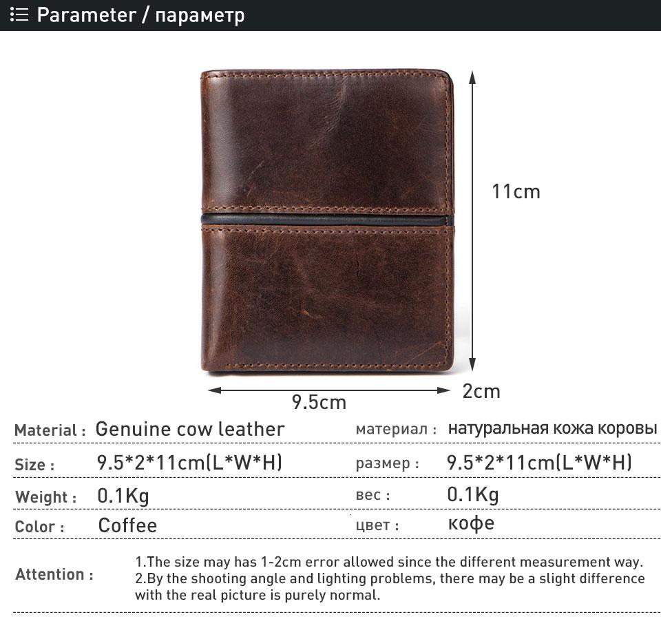 1 wallet men genuine leather