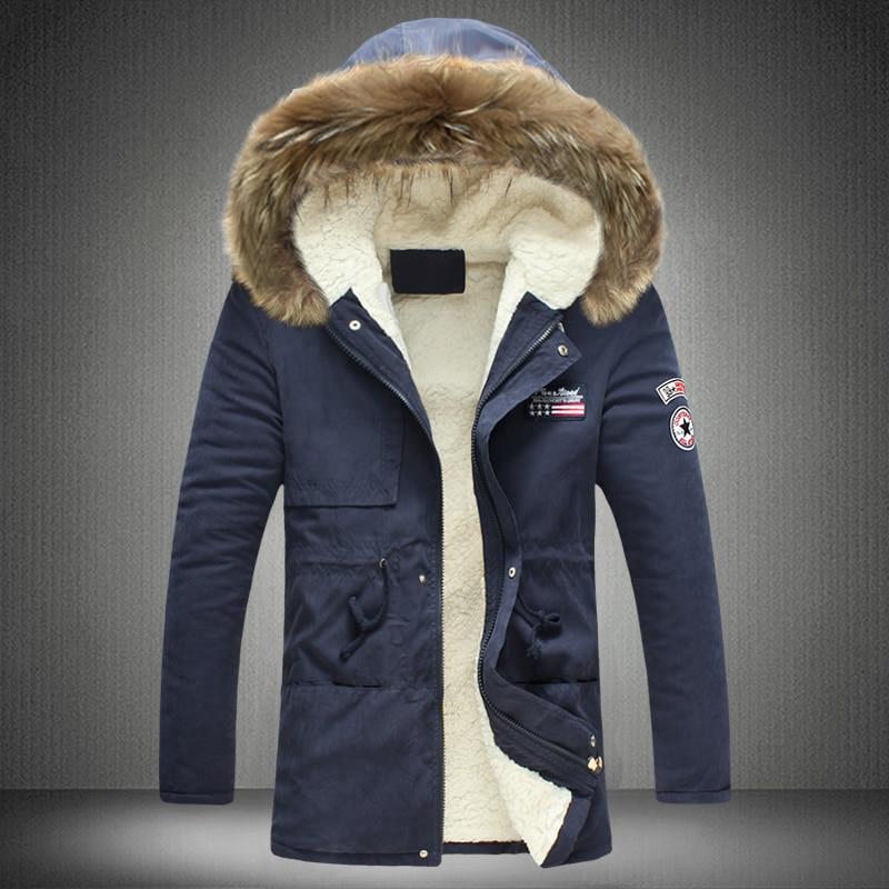 Fashion parkas men military medium-long winter coat men thickening cotton-padded winter jacket men with fur hood M-5XLОдежда и ак�е��уары<br><br><br>Aliexpress