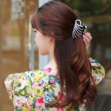 Elegant Peacock Hair Accessories for Women Girls Hairpin Unique Hair Grip Claws Clips Ponytail Hold Black Color 8.4cm Long HC50(China)