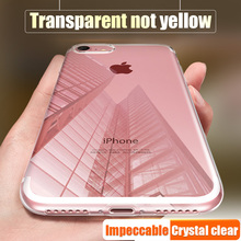 GKK Ultra Thin Soft TPU Transparent Case For iPhone 6 6s 7 Plus 5S For iphone 7 6 5 case Crystal Clear Silicon Cover Phone Cases
