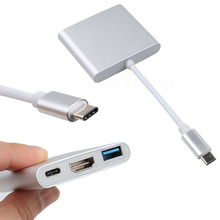 kebidumei Multi-function 3 in 1 USB 3.1 Type-c To HDMI USB 3.0 Charging Adapter Cable For Macbook Air Digital Camera HDTV Pro(China)