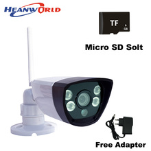WIfi IP camera support micro SD card network wired wireless IP cam webcam outdoor waterproof for day&night home use ABS plastic