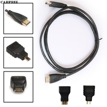 CARPRIE 3M 3in1 HDMI to HDMI/Mini/Micro HDMI Adaptor Cable Kit HD for Tablet PC TV(China)
