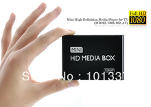 JEDX MP013 Mini 1080P Full HD Media Player High Definition 1920X1080P HDMI AV SD USB Media Player AV Cable Free Shipping!
