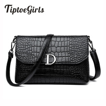 Hot Korean Fashion Trend of the New Personality Crocodile D Word Shoulder Bag Wild Casual Messenger Messenger Bag(China)