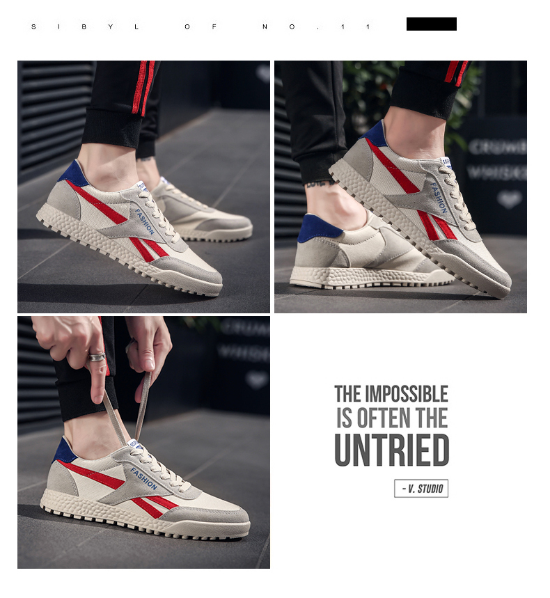 New Fashion Casual Flat Vulcanize Shoes For Men Breathable Lace-up Shoes Footwear Striped Shoes Flax And Cattle Cross Stitching 29 Online shopping Bangladesh