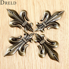 4Pcs Antique Brass Furniture Decorative Corner Brackets Jewelry Box Wood Case Feet Leg Vintage Metal Corner Protector with Screw