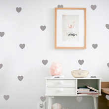 Little Hearts Wall Stickers Wall Decals, Removable home decoration art Wall Decals Free Shipping(China)