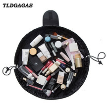 TLDGAGAS Women Travel Waterproof Lazy Makeup Bags Organizer Drawstring Lady Cosmetic  Bag Toiletry Bag Wash Foldable 18b2b732d8b08