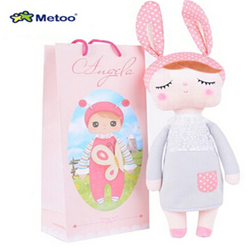 With Gift Bag 30CM Cute Metoo Angela Dolls Bunny Baby Toy Stuffed Animal Kawaii Panda Bee Plush Toy For  Kids Metoo Toy  WL10<br><br>Aliexpress