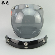 top quality UV 400 Protection motorcycle windshield for vintage helmet 3/4 style helmet bubble visor