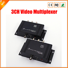High Quality up to 600m Transmission Distance CCTV Camera  Transmitter 3CH Video Multiplexer for Security System