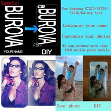 DIY custom design own name Customize printing your photo picture phone case cover for Samsung Galaxy Ace 3 gt-S7270 S7272 s7275(China)