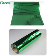 wholesale big discount Green Metallic Heat Transfer Vinyl Tshirt Vinyl Garment Film for Plotter Cutter Clothing HTV 50cm x 80cm(China)