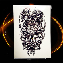 1PC Large Size Black Spray Armband Tattoo Men Body Art Arm Sleeve Tatoo HHB-177 Fake Flash Metallic Temporary Tattoo Skull Totem