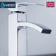EVERSO Brass Torneira Basin Faucet Waterfall Faucet Bathroom Faucet Water Tap Bathroom Basin Mixer Faucet(China)