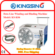 Latest Model Electric Best Cable Wire Coiling Winding Bundling Machine KS-K04 & Cable Tie + Free Shipping by DHL air express(China)