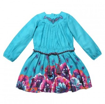 girls French style dress 2017 new designer Spring&amp;Autumn kids cute floral  dress girls brand party dress<br>