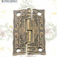 20pcs Furniture Cabinet Hinge Jewelry Box Hinge Antique Hinge Packaging Accessories Surface Mounted Hinge 36*23MM(China)