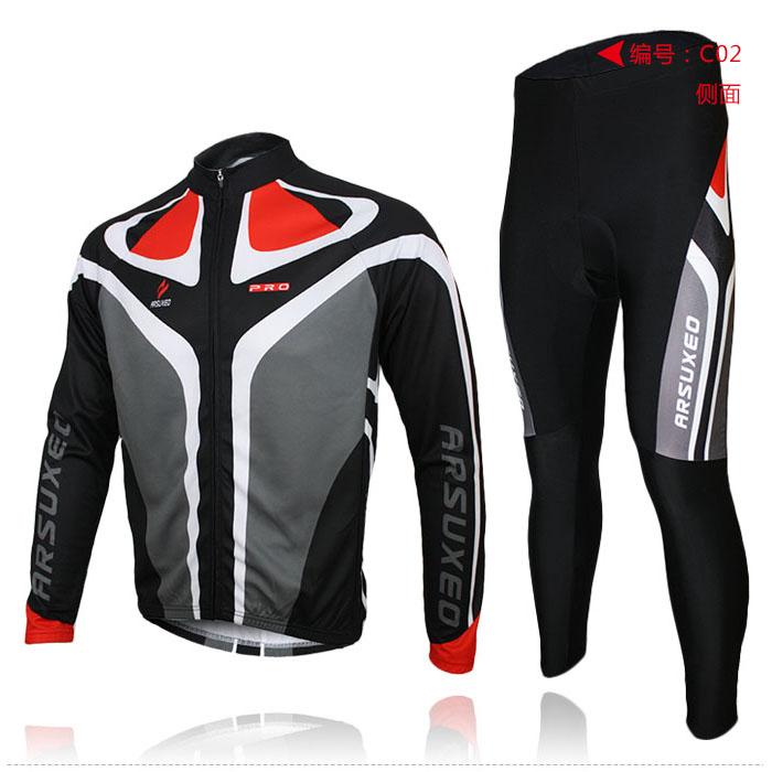 2015 ARSUXEO mens cycling clothing Mountain bike MTB sets bicycle long sleeves jersey shirts wear uniforms C01<br><br>Aliexpress