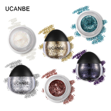 UCANBE Brand Body Glitter Paste Cream Makeup Shimmery Gold Silver Diamond Highlighter Gel Face Hair Paint Shadow Cosmetics Set(China)
