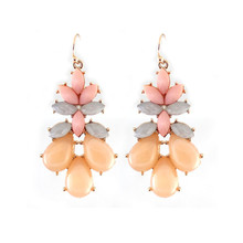 Europe and the United States foreign trade jewelry wholesale texture elegant pink earrings(China)