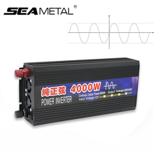 Car Inverter 4000W 2000W Power Pure Sine Wave DC 12V AC 220V Converter Inverter Display Supply 12 220 2000 4000 Auto 12 220 V(China)