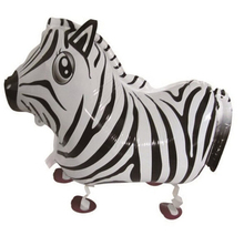 Zebra balloon walking balloons animals inflatable air ballon for party supplies kids classic toy 65*43cm(China)