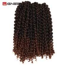 Wignee 3PCS/Lot High Temperature Synthetic Freetress Hair Extensions For Black Women Goddess Crochet Twist Braiding Hair Pieces(China)