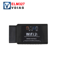 New stock WIFI Connection Wireless OBD OBDII Diagnostic Tool ELM327 WIFI OBD2 Tool Works Android/iOS Smart Phone ELM 327