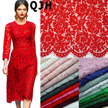 1.5*1.5meters Embroidery Eyelash Cotton Lace Fabric French Cord Lace Cloth Nigerian African Guipure Lace For Party Wedding Dress