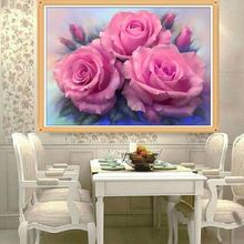 Fashion Diamond Painting Cross Stitch Peony Flower Mosaic Pasted Embroidery Rhinestone Drawing Crafts DIY Home Decorate