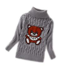 Boys Girls Turtleneck Solid Baby Kids Sweaters Soft Warm Sueter Infantil Autumn Winter Children's Sweater Coats(China)