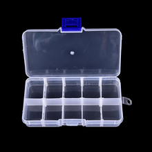 Durable 10 Compartments Transparent Visible Plastic Fishing Tackle Box Fishing Lure Storage Box Case Fish Tool 12.8*6*2.3 cm(China)