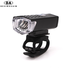 BEGINAGAIN 300 Lumen USB Rechargeable Bike Front Light CREE High Power Head Flashlight Warning Cycling Bicycle LED Lamp Lighting