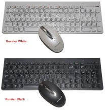 100% original authentic SK-8861 ultra-thin wireless keyboard and mouse set For Lenovo home office mute Russian  keyboard