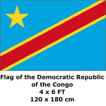 Democratic Republic Congo Flag 120 x 180 cm 100D Polyester Congo Flags And Banners National Flag Country Banner