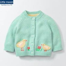 (18M-6t)6pcs/lot Girls' Sweaters Girls Clothing Spring New Style Children Clothes Baby Winter Sweater Jacket Kids Costume