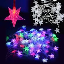 5M 28LED Pentagram String Fairy Cool Light Christmas Wedding Party Decoration Xmas tree lights holiday led fairy lights fixtures
