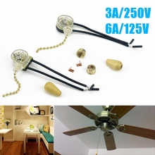 Universal Ceiling Fan Pull Chain Switch Wall Lamp Light Replacement Pull Chain Cord Switch Button 3A/250V 6A/125V Mayitr(China)
